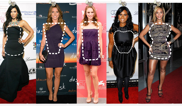 celebrity body shapes