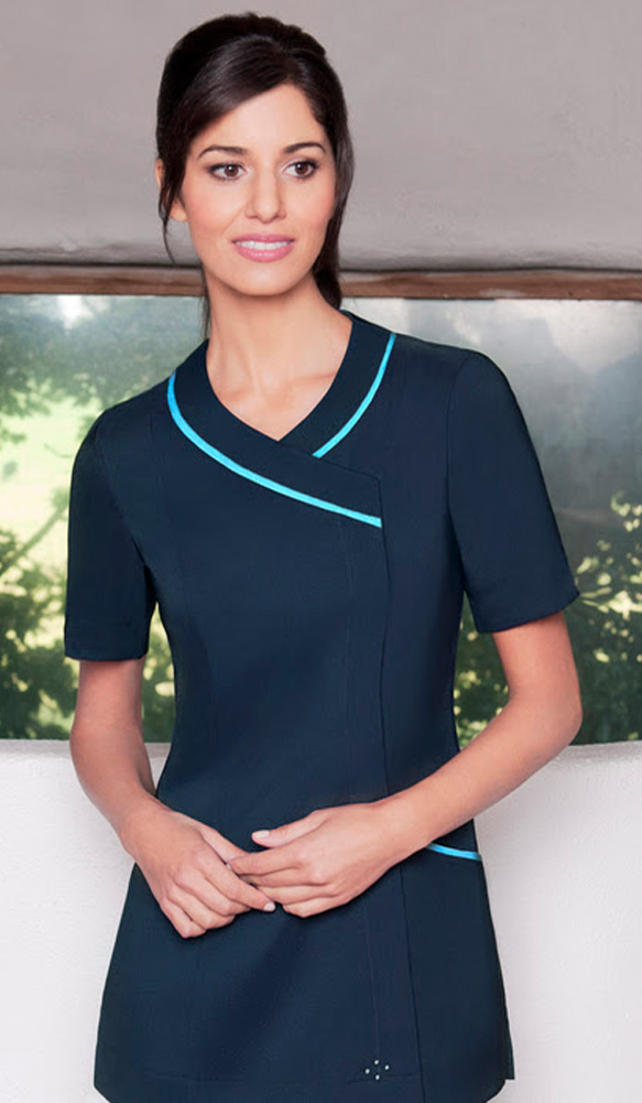 Nurses uniforms beauty spa uniforms diamond designs for Spa uniform colors